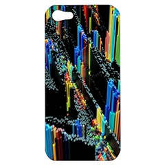 Abstract 3d Blender Colorful Apple iPhone 5 Hardshell Case