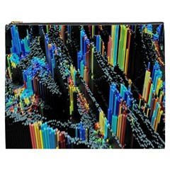 Abstract 3d Blender Colorful Cosmetic Bag (xxxl)