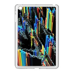 Abstract 3d Blender Colorful Apple Ipad Mini Case (white)