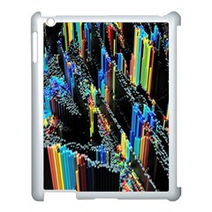 Abstract 3d Blender Colorful Apple iPad 3/4 Case (White)