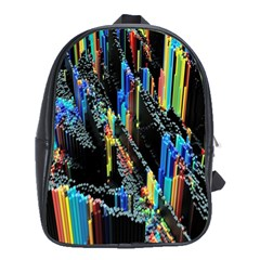 Abstract 3d Blender Colorful School Bags (xl)