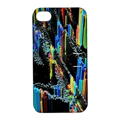 Abstract 3d Blender Colorful Apple Iphone 4/4s Hardshell Case With Stand