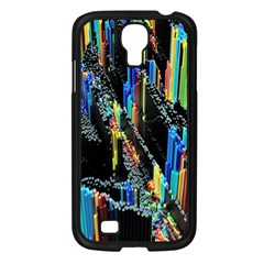 Abstract 3d Blender Colorful Samsung Galaxy S4 I9500/ I9505 Case (black)