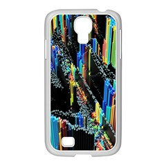 Abstract 3d Blender Colorful Samsung GALAXY S4 I9500/ I9505 Case (White)