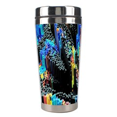 Abstract 3d Blender Colorful Stainless Steel Travel Tumblers