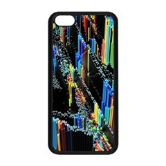Abstract 3d Blender Colorful Apple iPhone 5C Seamless Case (Black)