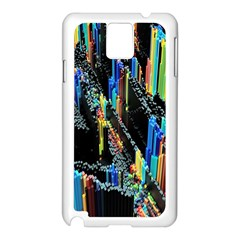 Abstract 3d Blender Colorful Samsung Galaxy Note 3 N9005 Case (White)
