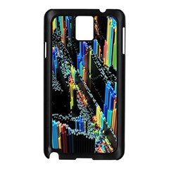 Abstract 3d Blender Colorful Samsung Galaxy Note 3 N9005 Case (Black)