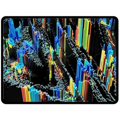 Abstract 3d Blender Colorful Double Sided Fleece Blanket (Large)