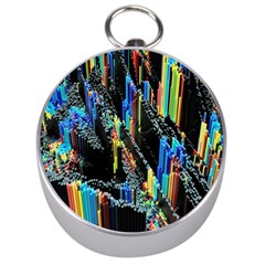 Abstract 3d Blender Colorful Silver Compasses