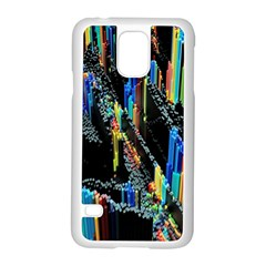 Abstract 3d Blender Colorful Samsung Galaxy S5 Case (White)