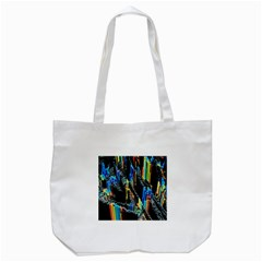 Abstract 3d Blender Colorful Tote Bag (white)