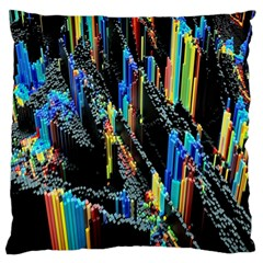 Abstract 3d Blender Colorful Standard Flano Cushion Case (One Side)