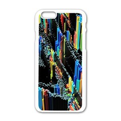 Abstract 3d Blender Colorful Apple iPhone 6/6S White Enamel Case