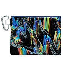 Abstract 3d Blender Colorful Canvas Cosmetic Bag (XL)