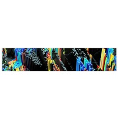 Abstract 3d Blender Colorful Flano Scarf (Small)