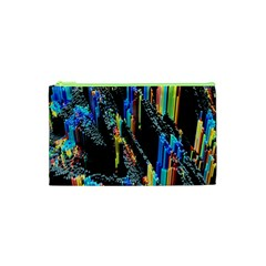 Abstract 3d Blender Colorful Cosmetic Bag (xs)