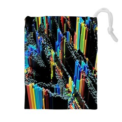 Abstract 3d Blender Colorful Drawstring Pouches (Extra Large)