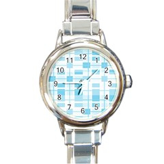 Pattern Round Italian Charm Watch