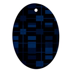 Pattern Oval Ornament (Two Sides)