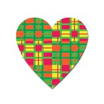 Pattern Heart Magnet Front