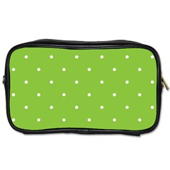 Mages Pinterest Green White Polka Dots Crafting Circle Toiletries Bags