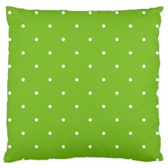 Mages Pinterest Green White Polka Dots Crafting Circle Large Flano Cushion Case (two Sides)