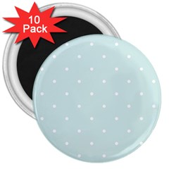Mages Pinterest White Blue Polka Dots Crafting  Circle 3  Magnets (10 Pack)