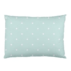 Mages Pinterest White Blue Polka Dots Crafting  Circle Pillow Case
