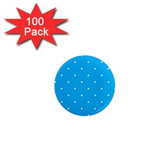 Mages Pinterest White Blue Polka Dots Crafting Circle 1  Mini Magnets (100 Pack)