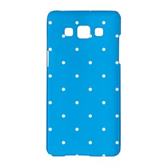 Mages Pinterest White Blue Polka Dots Crafting Circle Samsung Galaxy A5 Hardshell Case