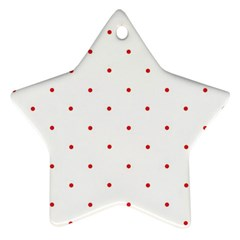 Mages Pinterest White Red Polka Dots Crafting Circle Ornament (star)