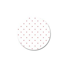 Mages Pinterest White Red Polka Dots Crafting Circle Golf Ball Marker (4 Pack)