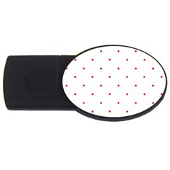 Mages Pinterest White Red Polka Dots Crafting Circle Usb Flash Drive Oval (2 Gb)