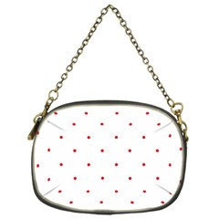 Mages Pinterest White Red Polka Dots Crafting Circle Chain Purses (one Side)