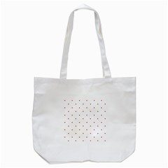 Mages Pinterest White Red Polka Dots Crafting Circle Tote Bag (white)