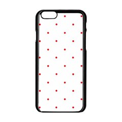 Mages Pinterest White Red Polka Dots Crafting Circle Apple Iphone 6/6s Black Enamel Case