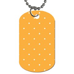 Mages Pinterest White Orange Polka Dots Crafting Dog Tag (two Sides)