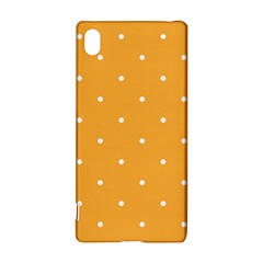 Mages Pinterest White Orange Polka Dots Crafting Sony Xperia Z3+
