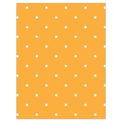 Mages Pinterest White Orange Polka Dots Crafting Drawstring Bag (large)