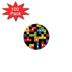 Mobile Phone Signal Color Rainbow 1  Mini Buttons (100 Pack)
