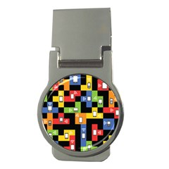 Mobile Phone Signal Color Rainbow Money Clips (round)