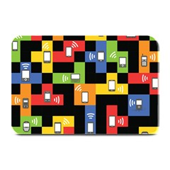 Mobile Phone Signal Color Rainbow Plate Mats