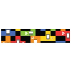 Mobile Phone Signal Color Rainbow Flano Scarf (small)