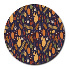 Macaroons Autumn Wallpaper Coffee Round Mousepads