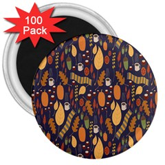 Macaroons Autumn Wallpaper Coffee 3  Magnets (100 Pack)