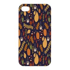 Macaroons Autumn Wallpaper Coffee Apple Iphone 4/4s Premium Hardshell Case