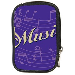 Music Flyer Purple Note Blue Tone Compact Camera Cases