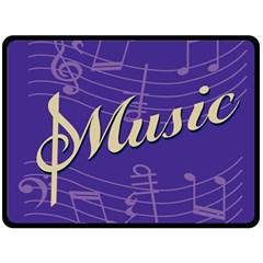 Music Flyer Purple Note Blue Tone Fleece Blanket (large)