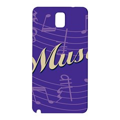 Music Flyer Purple Note Blue Tone Samsung Galaxy Note 3 N9005 Hardshell Back Case